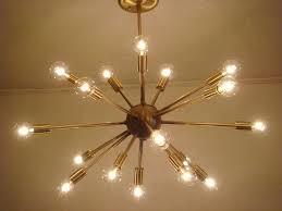 style selections 18 light brushed nickel chandelier sputnik starburst light fixture chandelier lamp satin brushed brass