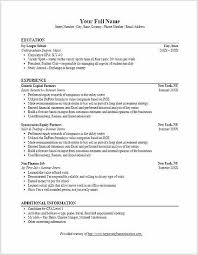 Bank Resume Template Stunning Sample Investment Banking Resume Funfpandroidco
