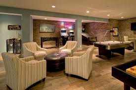 Furniture Accessories:Interior Mancave Decor With Big Industrial Hanging  Lights And Wooden Bench With Storage