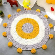 yellow circle rug uk