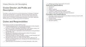 Hospitality Job Descriptions Example, Example Of Hospitality Job ...