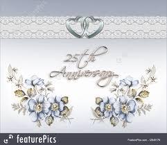 Illustration Of 25th Wedding Anniversary Card