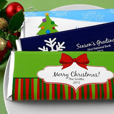 Personalized Winter Holiday 1.5 Oz. Candy Bar Wrappers