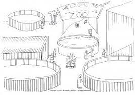zoo cage coloring page. Wonderful Coloring EmptyZooCageColoringPage Inside Zoo Cage Coloring Page Pinterest