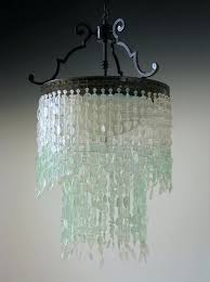 coastal decor lighting sea glass chandelier tier waterfall fixture coastal decor the bay lighting ideas for