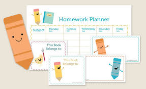 Be Different Act Normal Printable Homework Organizer