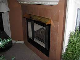 fireplace with brass hood