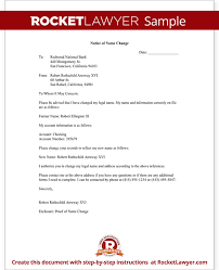 Name Change Notification Letter Free Letter Template With