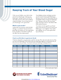 Printable Blood Sugar Chart Pdfsimpli