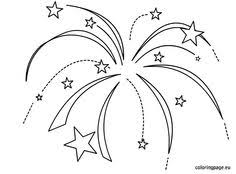 Small Picture Printable fireworks coloring page Free PDF download at http