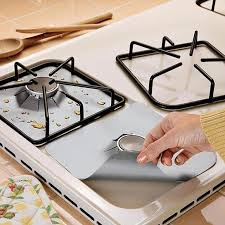kitchen gas stove. 4pcs / Set Gas Stove Cooker Protector Reusable Kitchen Accessories