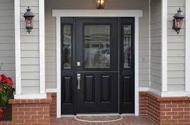 black dutch fiberglass entry doors with sidelights