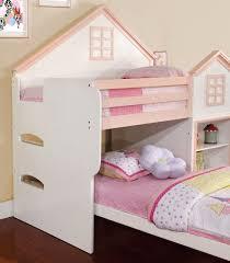 Paloma Oak Walnut Twin House Loft Bed | House Theme Beds