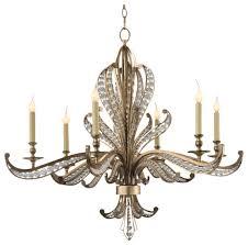 john richard six light beaded crystal chandelier