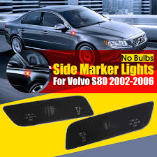 Volvo S80 Side Marker Light Us 11 59 25 Off Pair Black Front Side Marker Turn Signal Indicator Lamp Lights No Bulbs For Volvo S80 2002 2006 30744360 30744361 In Signal Lamp