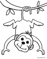Monkey Coloring Pages Free Printable At Getdrawingscom Free For