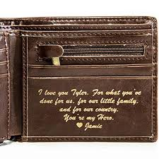 personalized mens wallet leather wallet the perfect mens gift boyfriend gift father s