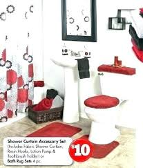Gray And Red Bathroom Red And Black Bathroom Ideas Red Bathroom