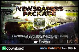 Newspaper Template After Effects Free Newspapers Package Videohive Project Free Download Free After