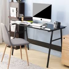 glass home office desks. Home Office Computer Desk Simple Design Table Workstation With Glass Top (Black) Desks