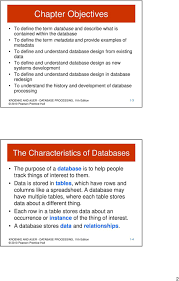Characteristics Of A Good Database Design David M Kroenke And David J Auer Database Processing 11 Th