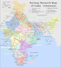 Indian Railways Network Schematic Map. Click for a high-resolution ...