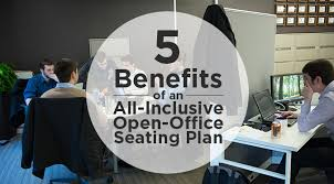 5 Benefits Of An All Inclusive Open Office Seating Plan