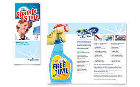 Cleaning Brochure House Cleaning And Housekeeping Brochure Design Template By