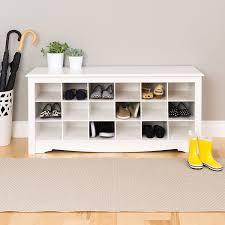 foyer furniture for storage. Shoe Cubbie Storage Bench - White Foyer Furniture For R