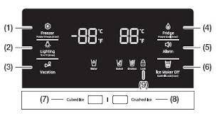 samsung refrigerator control panel. Beautiful Refrigerator Control Panel For Samsung Food Showcase Refrigerator RH57 Model With E