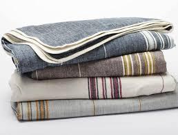 Cotton Linen Throw Blanket