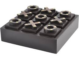 Naughts And Crosses Wooden Game Magnificent Executive Noughts And Crosses Game Black Wooden Tic Tac Toe Set
