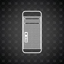 system unit icon on black background vector image vector ilration of icons and emblems to zoom