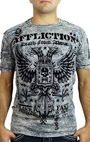 Affliction T Shirt Size Chart Affliction Mens Warhawk Short Sleeve Crew Tee