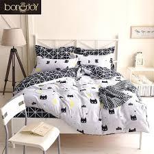 batman bedding set kids cartoon bedding set queen home bedding sheet black and white reactive printed batman mask batman bed sheets full size