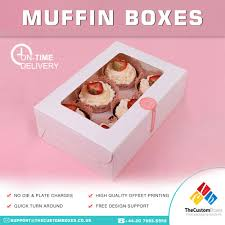 Custom Design Cupcake Boxes