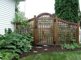 garden gates and fences. Decoration Garden Gates And Fences With Square Lattice Fence Gate By Elyria 640x480 E