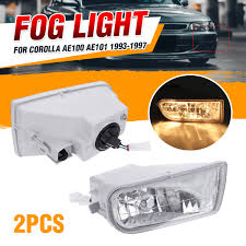 Fog Light Design Us 26 93 23 Off Left Right Car Front Bumper Led Fog Lights Fog Light Lamp With Bulb For Toyota Corolla Ae100 Ae101 1993 1997 A1649060451 In Car