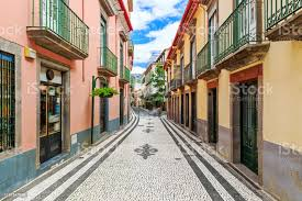 The Streets Of Funchal Madeira Stock Photo - Download Image Now - iStock