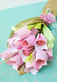 Paper Flower Bouquet Tutorial Mothers Day Cheery Chocolate Paper Tulip Tutorial Frog