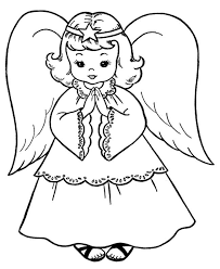 Small Picture 19 best Christmas Angel Coloring Page images on Pinterest
