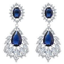 image is loading elegant chandelier cubic zirconia long big crystal bridal