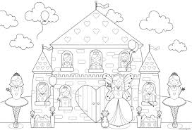 Chateau De Princesse Colorier Coloriagecars Me Coloriage Princesse Et Chateau L