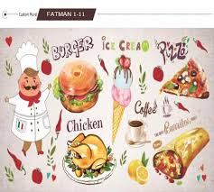 Us 1637 Custom Photo Wallpaper 3d Hamburger Restaurant Coffee Shop Tea House Fast Food Hot Pot Dining Room Mural Wallpaper In Wallpapers From Home