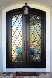 diamond double doors black full lite