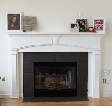 gray tile fireplace painted