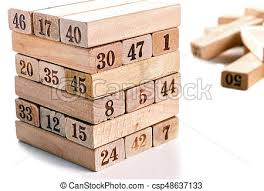 Game With Wooden Blocks Blocks of game isolated on white background vertical tower 58
