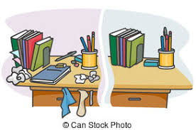 messy desk clipart. Simple Desk Cluttered Desk And Messy Clipart