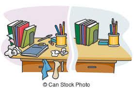 messy desk clipart. Modren Messy Cluttered Desk On Messy Clipart