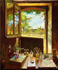 open door painting. Open Door On A Garden 1934 Painting O